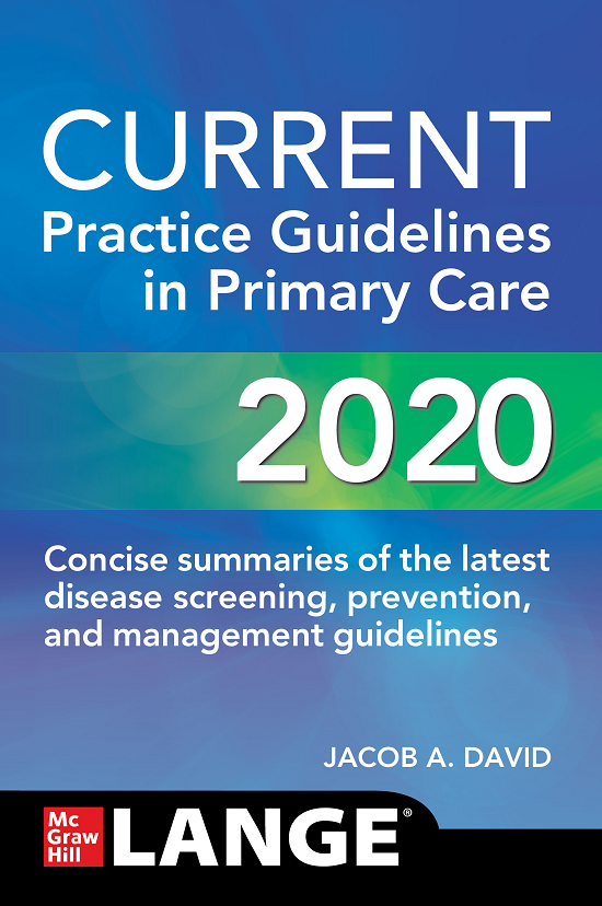 Current practice guidelines in primary care 2020 [electronic resource]