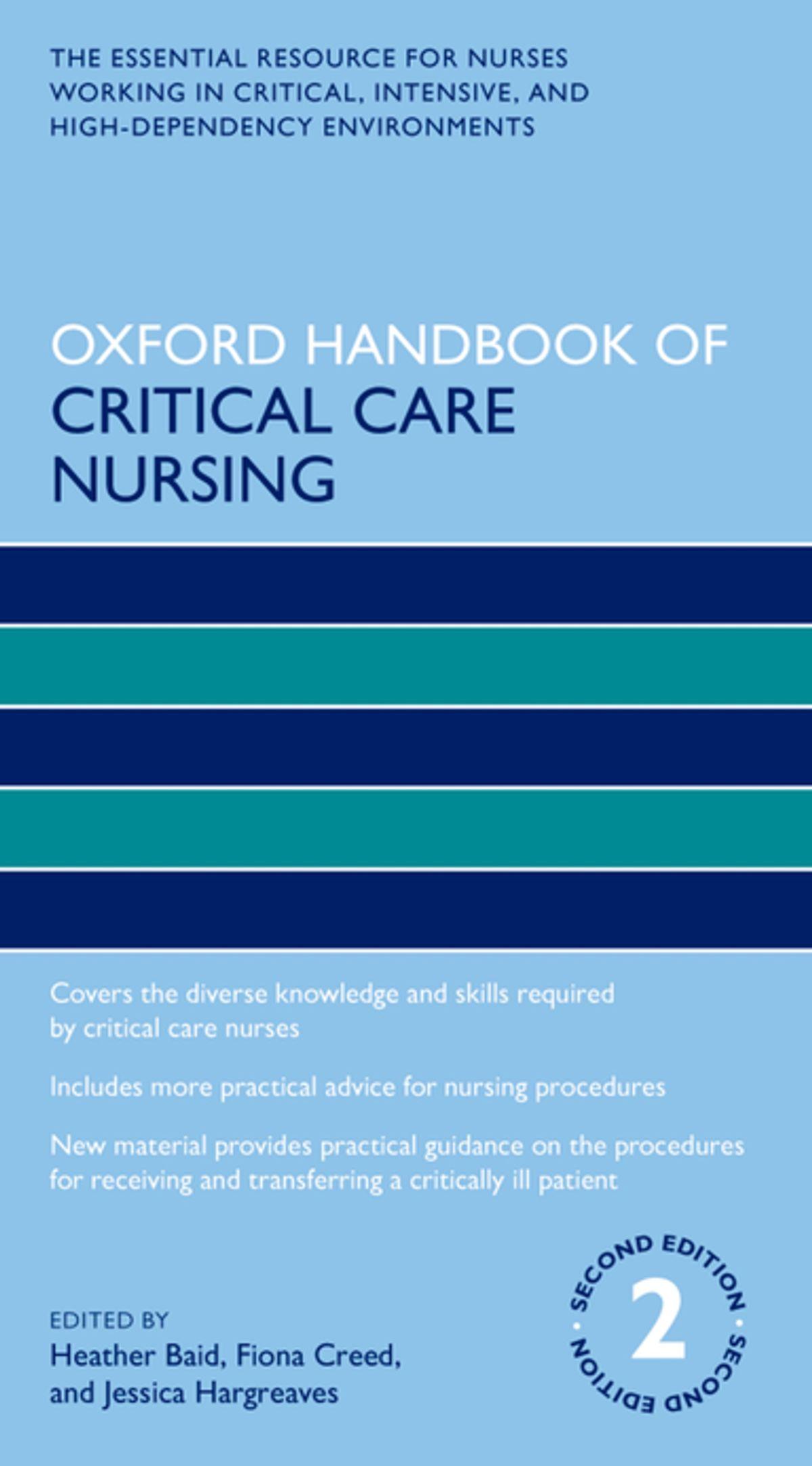 Oxford handbook of critical care nursing [electronic resource]