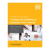 Creating and Updating an Employee Policy Manual: Policies for Your Practice [electronic resource]
