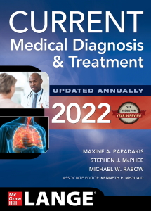 Current medical diagnosis & treatment 2022 [electronic resource]