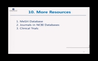 8. PubMed – More Resources