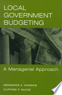 Local Government Budgeting [electronic resource]
