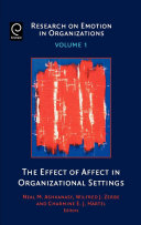 The Effect of Affect in Organizational Settings [electronic resource]