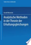 Analytische Methoden in der Theorie der Erhaltungsgleichungen [electronic resource]