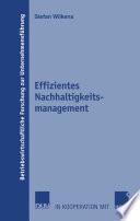Effizientes Nachhaltigkeitsmanagement [electronic resource]